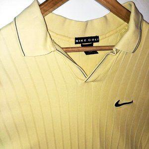 Nike Golf Men's Polo Yellow Large